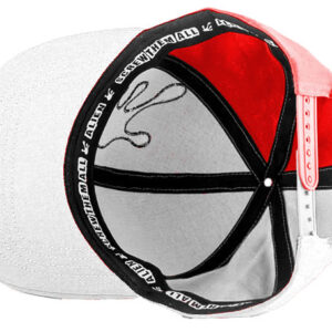 Qualityhats Shop - Screw Them All Logo Hat - Red & White - Details