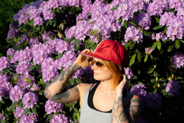 Qualityhats Shop - Screw Them All Logo Hat - Red & White - Women